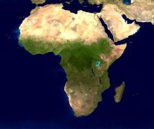 afrique vue du ciel